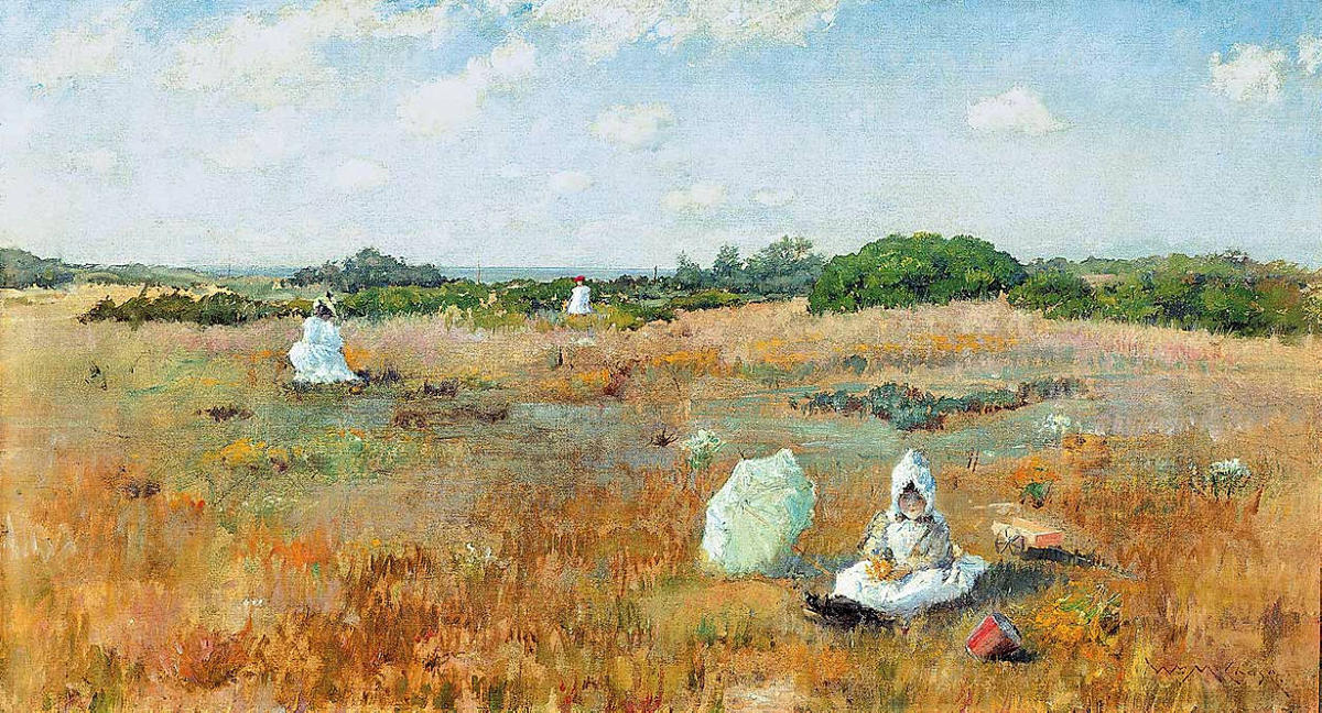 Gathering Autumn Flowers, 1894 por William Merritt Chase (1849-1916, United States)