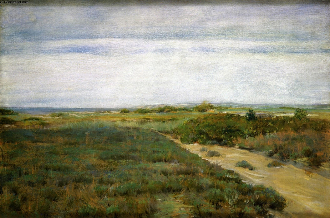 Perto do Mar (aka Shinnecock), 1895 por William Merritt Chase (1849-1916, United States)