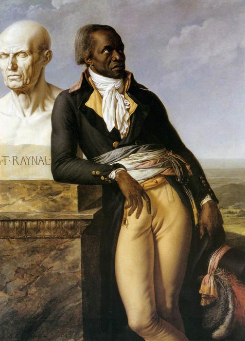 Retrato de JB Belley, Vice-Saint-Domingue, óleo sobre tela por Anne Louis Girodet De Roucy Trioson (1767-1824, France)