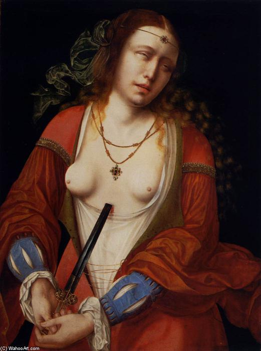 Lucretia, óleo sobre painel por Master Of The Holy Blood