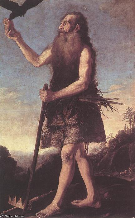 St Onuphrius, óleo sobre tela por Francisco Collantes (1599-1656, Spain)