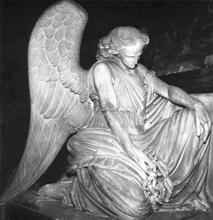 Angel of Grief, pedra por Auguste Clésinger (1814-1883, France)