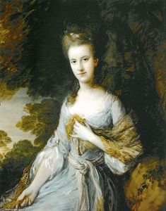 Thomas Gainsborough - Retrato de Sarah Buxton