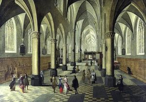 Peeter Neeffs The Younger - interior de Catedral