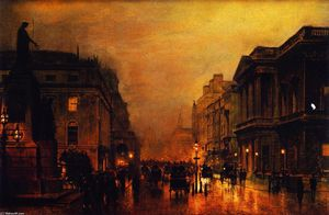 John Atkinson Grimshaw - Em londres , shopping pan..