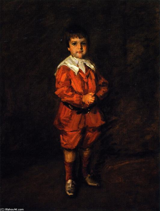 Master Robert, óleo sobre tela por William Merritt Chase (1849-1916, United States)