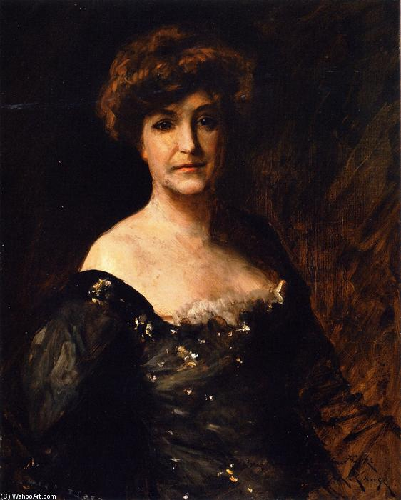 Minnie Madden Riske, óleo sobre tela por William Merritt Chase (1849-1916, United States)