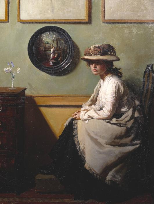 o espelho, 1900 por William Newenham Montague Orpen (1878-1931, Ireland) | ArtsDot.com