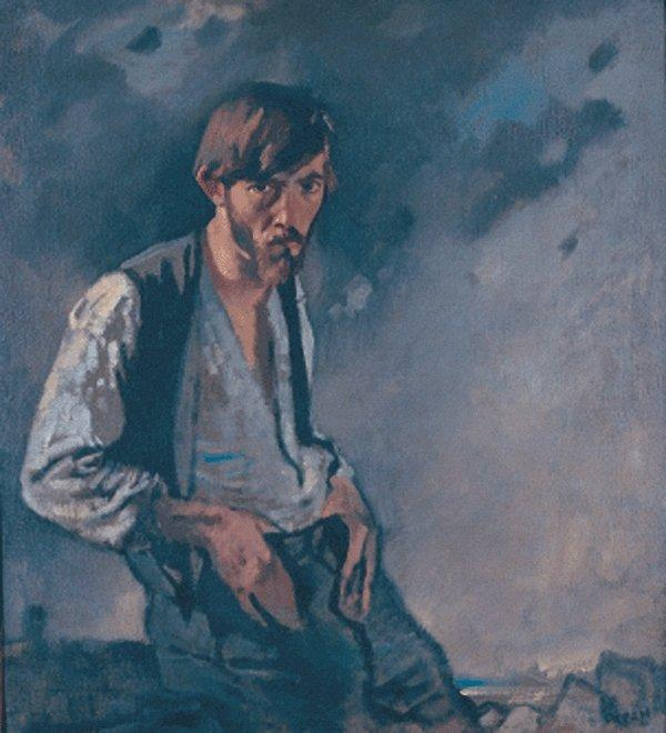 O homem dos a Oeste por William Newenham Montague Orpen (1878-1931, Ireland)