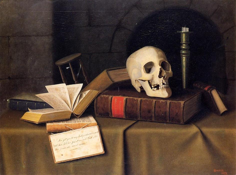 Momento Mori, para este favor, óleo sobre tela por William Michael Harnett (1848-1892, Ireland)