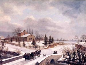 Thomas Birch - Pennsylvania cena do inverno