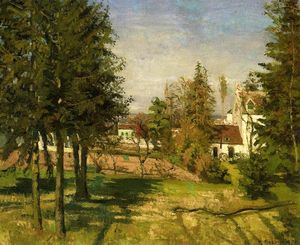 Camille Pissarro - The Pine Trees of Louveciennes ( também conhecido as The Abeto Trees of Louveciennes )