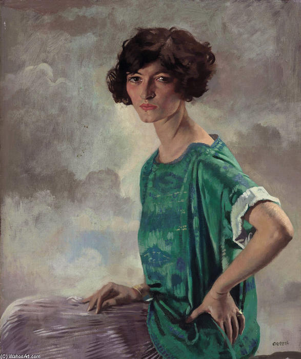 Retrato de Gertrude Sanford, 1922 por William Newenham Montague Orpen (1878-1931, Ireland)