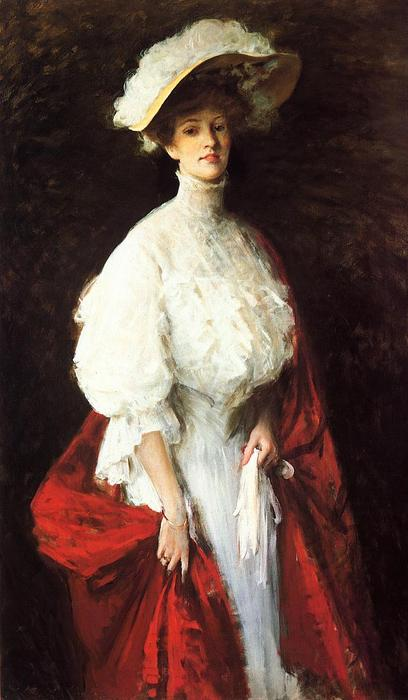 Retrato da senhorita Frances Vonlohr Earle, 1905 por William Merritt Chase (1849-1916, United States) | ArtsDot.com