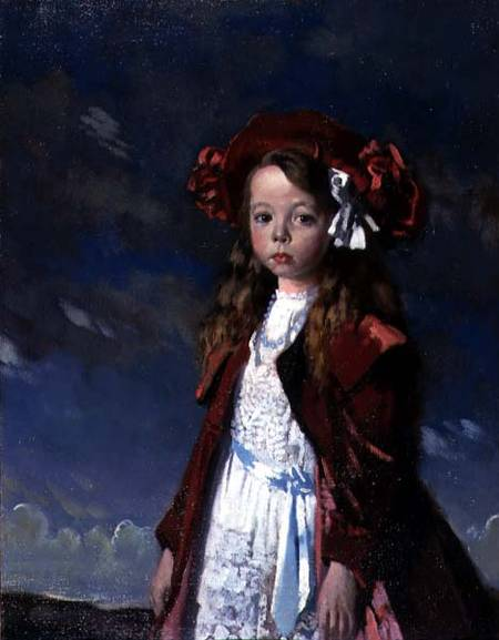 Retrato da senhorita Harmsworth, óleo sobre tela por William Newenham Montague Orpen (1878-1931, Ireland)