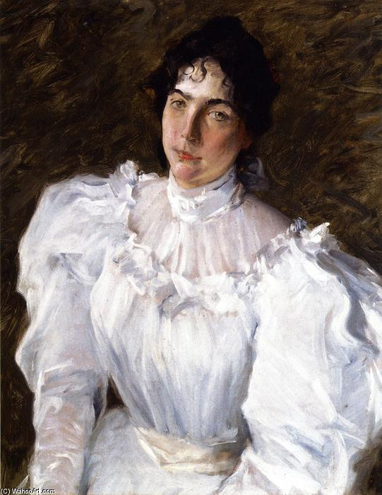 Retrato de Virginia Gerson, óleo sobre tela por William Merritt Chase (1849-1916, United States)