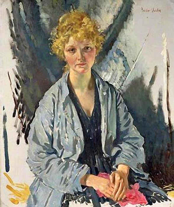 O refugiado por William Newenham Montague Orpen (1878-1931, Ireland)