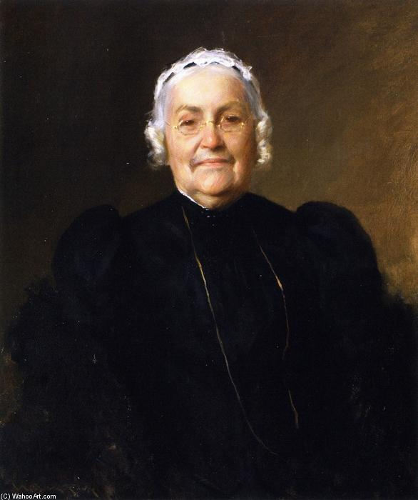 Sarah Redwood Parrish, óleo sobre tela por William Merritt Chase (1849-1916, United States)