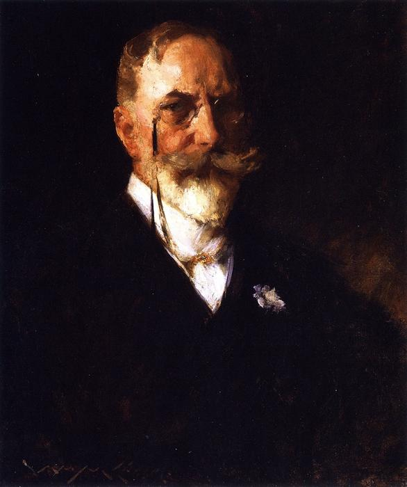 Auto Retrato, óleo sobre tela por William Merritt Chase (1849-1916, United States)
