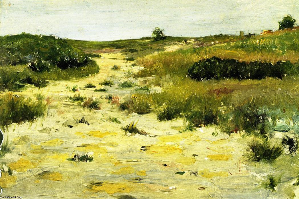 Shinnecock Hills (8), óleo sobre painel por William Merritt Chase (1849-1916, United States)