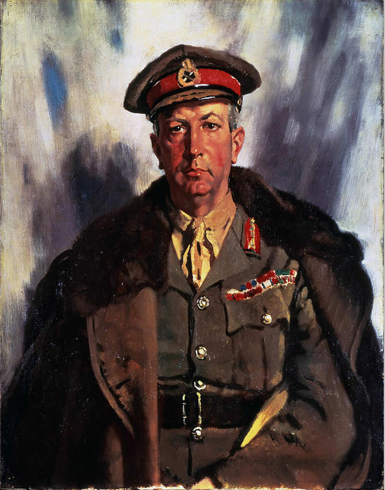 Sir Arthur Currie, 1919 por William Newenham Montague Orpen (1878-1931, Ireland) | Cópias Da Arte Na Tela | ArtsDot.com