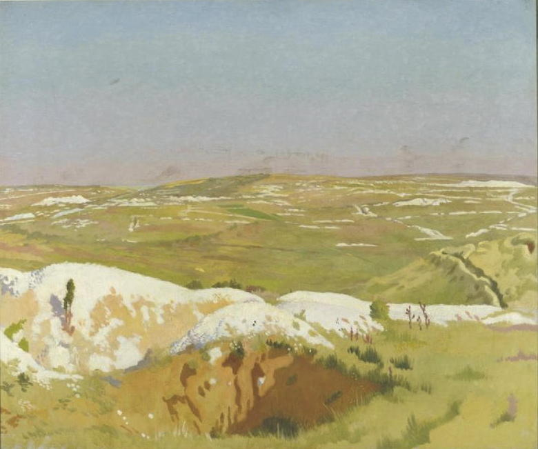 o somme : uma clara Dia, 1917 por William Newenham Montague Orpen (1878-1931, Ireland)