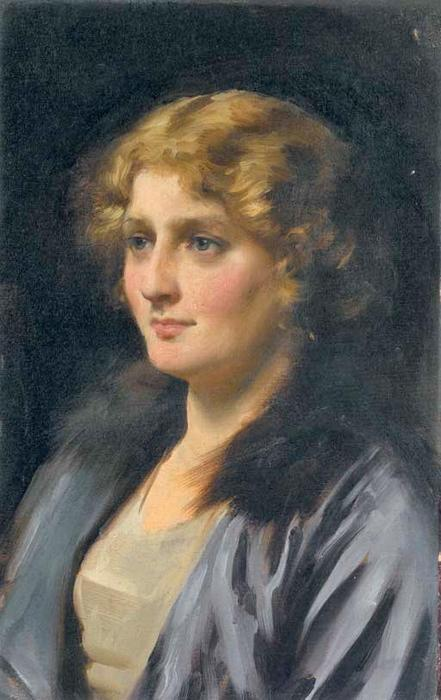Stella, óleo sobre tela por Thomas Benjamin Kennington (1856-1916, United Kingdom)