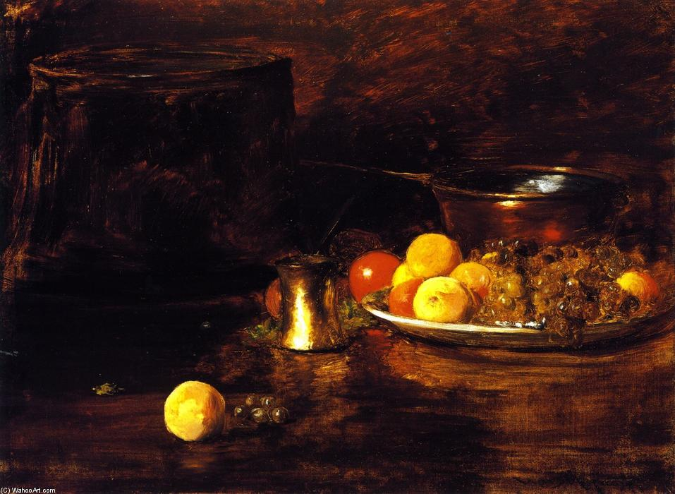 Natureza morta, óleo sobre tela por William Merritt Chase (1849-1916, United States)