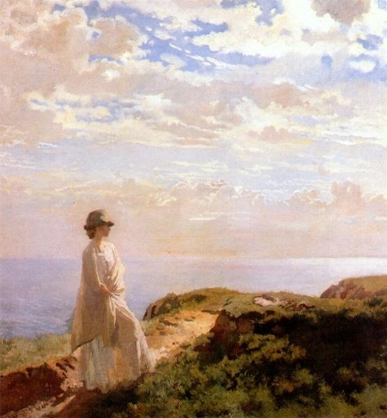 a verão tarde por William Newenham Montague Orpen (1878-1931, Ireland)