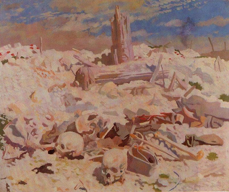 Thiepval, óleo sobre tela por William Newenham Montague Orpen (1878-1931, Ireland)