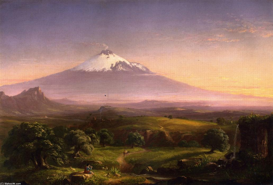 Vista de Mt. Etna, óleo sobre tela por Thomas Cole (1801-1848, United Kingdom)