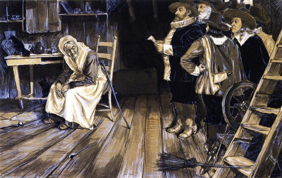 A Witch Hunt, pintura por Henry Ossawa Tanner (1859-1937, United States)