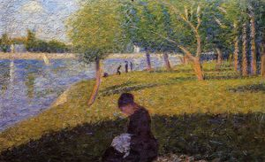 Georges Pierre Seurat - mulher sewint