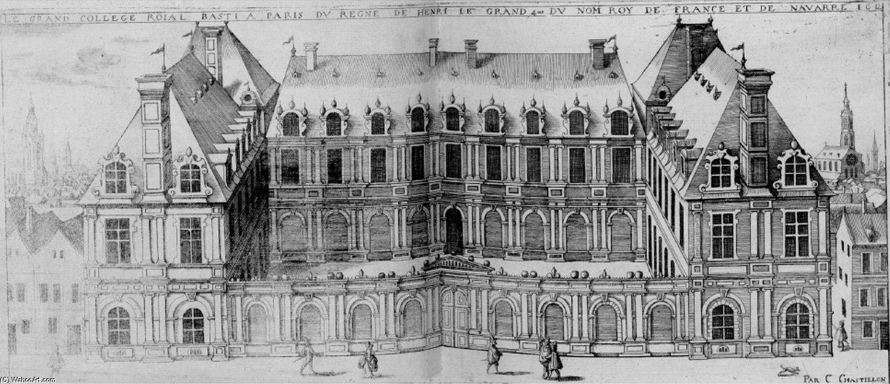 Le Royal College, Futur Collège de France por Claude Chastillon (1559-1616, France)