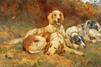 esperando a armas por Thomas Blinks (1860-1912, United Kingdom)