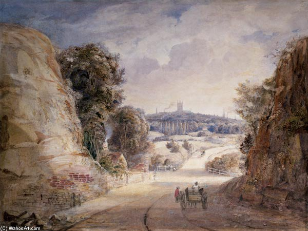 View Of Wolverhampton - por Thomas Charles Leeson Rowbotham (1782-1853, United Kingdom)