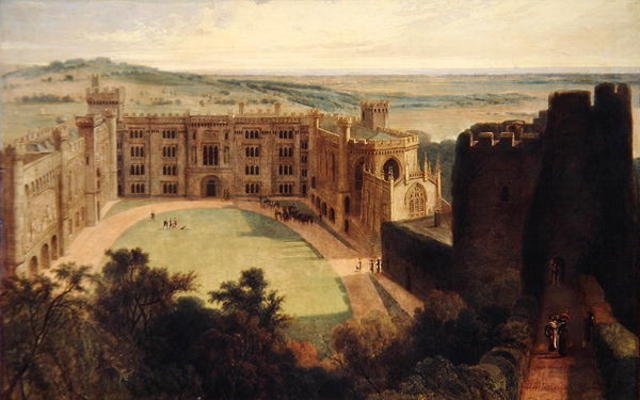 arundel` castelo a partir de a criar por Thomas And William Daniell (1769-1837, United Kingdom)