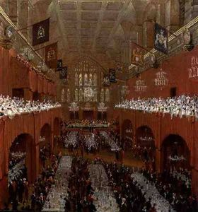 Thomas And William Daniell - Banquete no Guildhall