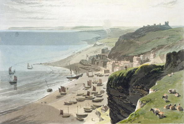 Hastings, From The East Cliff, 'de uma Viagem ao Redor Grã-Bretanha Realizadas por Thomas And William Daniell (1769-1837, United Kingdom)