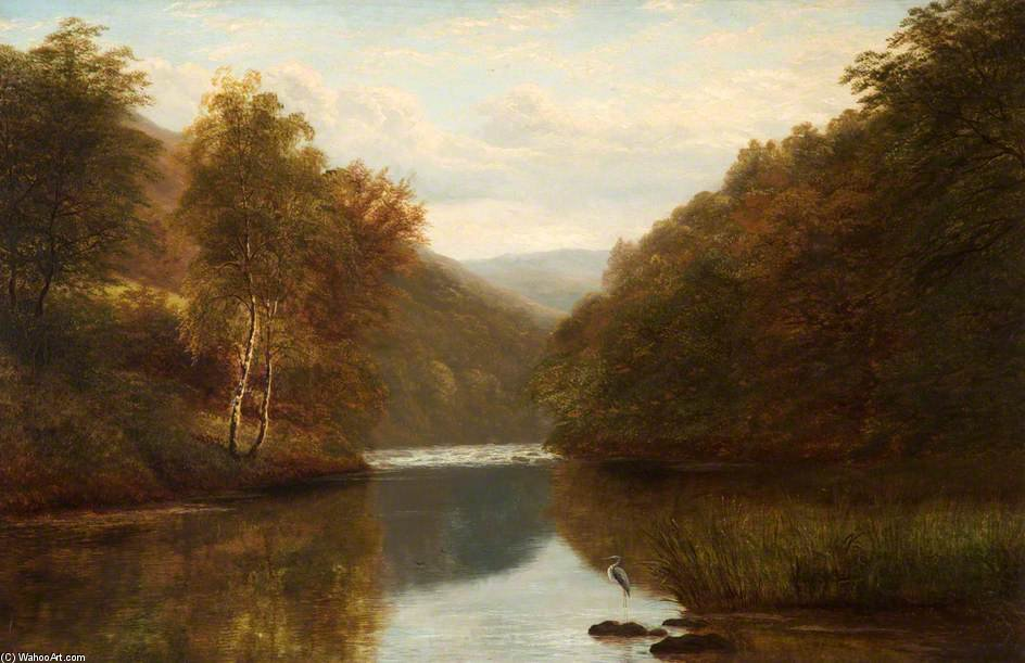 On The Dee No Llangollen por William Mellor (1851-1931, United Kingdom) | Museu De Reproduções De Arte | ArtsDot.com