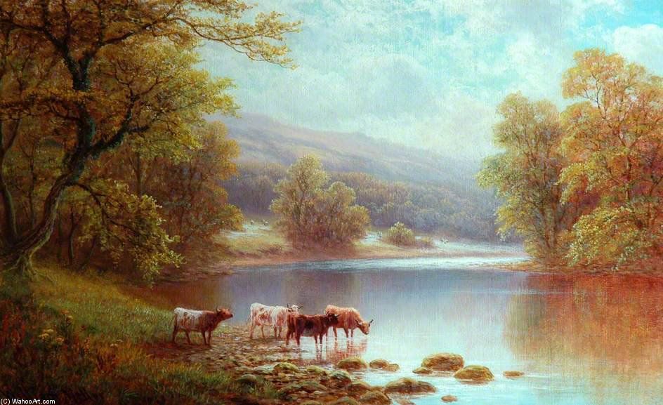 A Wharfe, Bolton madeiras por William Mellor (1851-1931, United Kingdom)