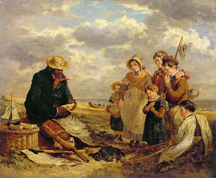 O Barco Negro Builder por William Parrott (1813-1869, United States)