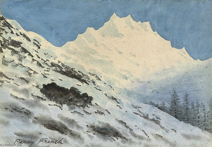Alpine Landscape por William Percy French (1854-1920, Ireland)