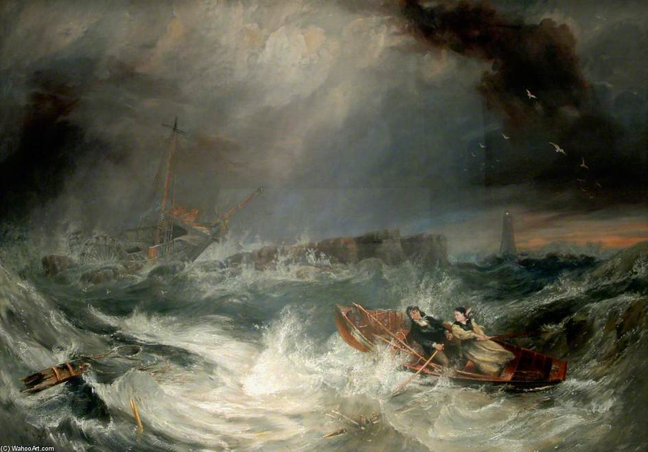 Grace Darling por John Wilson Carmichael (1800-1868, United Kingdom)