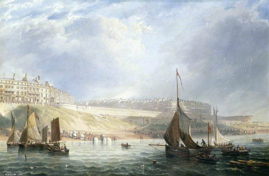 Kemp Town, Brighton, East Sussex, From The Sea por John Wilson Carmichael (1800-1868, United Kingdom)