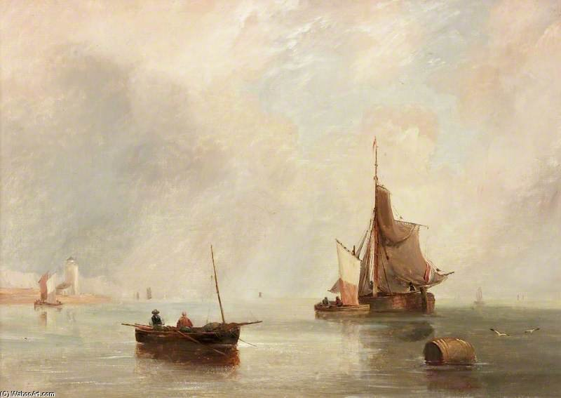 Off North Shields por John Wilson Carmichael (1800-1868, United Kingdom)