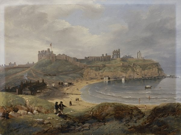 Haven Priore, Tynemouth por John Wilson Carmichael (1800-1868, United Kingdom)