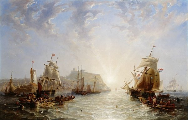 Expedição Off Scarborough por John Wilson Carmichael (1800-1868, United Kingdom)