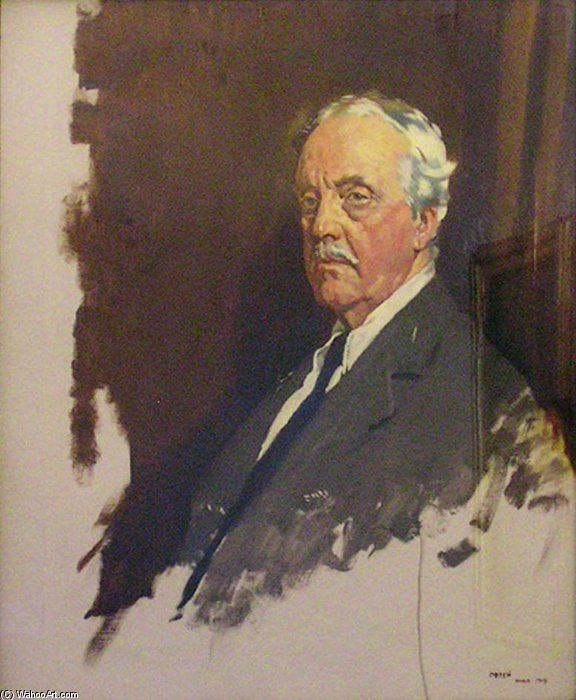 Arthur James Balfour por William Newenham Montague Orpen (1878-1931, Ireland)