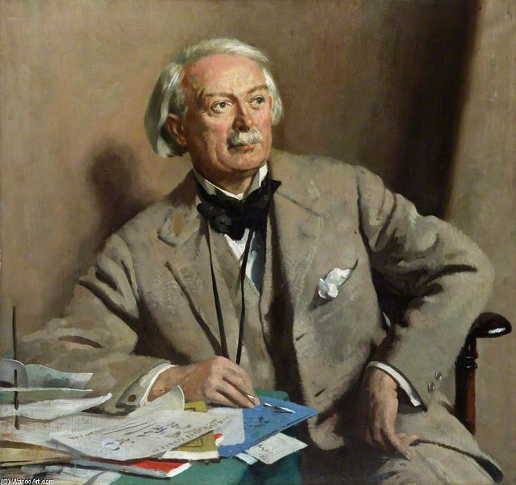 david lloyd george , 1st Conde Lloyd-george por William Newenham Montague Orpen (1878-1931, Ireland)
